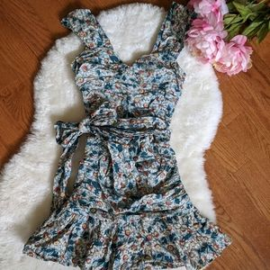 Fcuk ruched floral summer dress